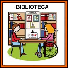 BIBLIOTECA - Pictograma (color)
