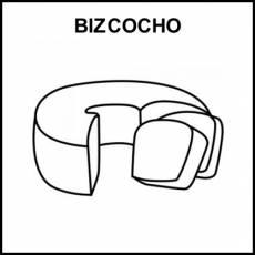 BIZCOCHO - Pictograma (blanco y negro)
