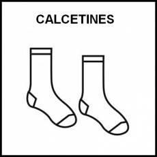 CALCETINES - Pictograma (blanco y negro)
