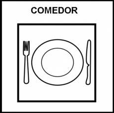 COMEDOR (COLECTIVO) - Pictograma (blanco y negro)