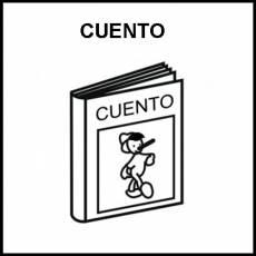 CUENTO - Pictograma (blanco y negro)