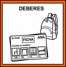 DEBERES - Pictograma (color)