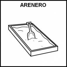 ARENERO - Pictograma (blanco y negro)