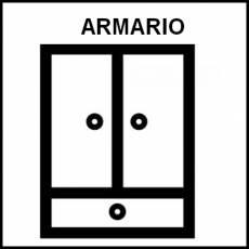 ARMARIO - Pictograma (blanco y negro)