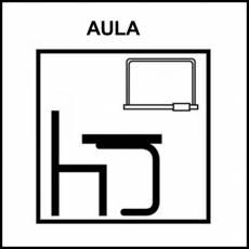AULA - Pictograma (blanco y negro)