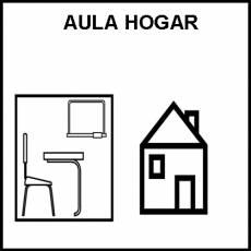 AULA HOGAR - Pictograma (blanco y negro)