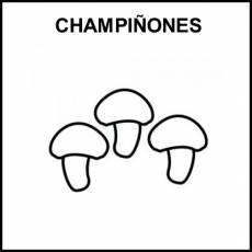CHAMPIÑONES - Pictograma (blanco y negro)