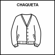 CHAQUETA - Pictograma (blanco y negro)
