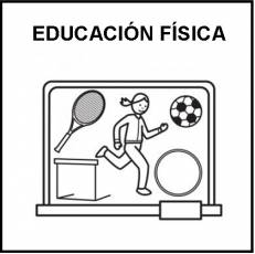 EDUCACIÓN FÍSICA - Pictograma (blanco y negro)