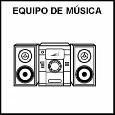 EQUIPO DE MÚSICA - Pictograma (blanco y negro)