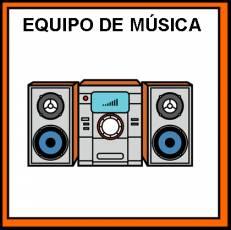 EQUIPO DE MÚSICA - Pictograma (color)