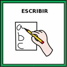 ESCRIBIR (A MANO) - Pictograma (color)