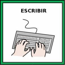 ESCRIBIR (CON TECLADO) - Pictograma (color)