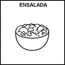 ENSALADA - Pictograma (blanco y negro)