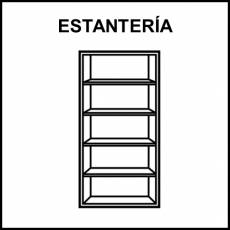 ESTANTERÍA - Pictograma (blanco y negro)