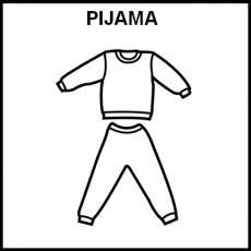 PIJAMA - Pictograma (blanco y negro)