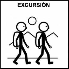 EXCURSIÓN (ANDANDO) - Pictograma (blanco y negro)