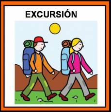 EXCURSIÓN (ANDANDO) - Pictograma (color)