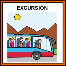 EXCURSIÓN (EN AUTOBÚS) - Pictograma (color)