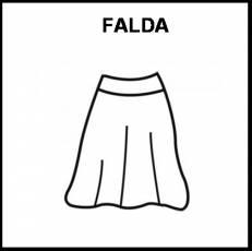 FALDA - Pictograma (blanco y negro)