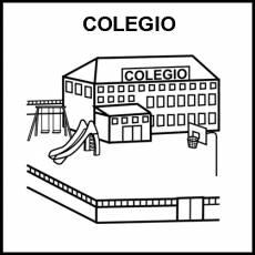 COLEGIO - Pictograma (blanco y negro)