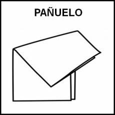 PAÑUELO (TELA) - Pictograma (blanco y negro)