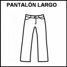 PANTALÓN LARGO - Pictograma (blanco y negro)