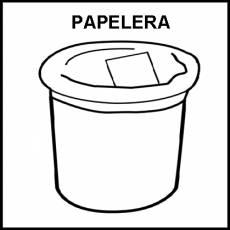 PAPELERA - Pictograma (blanco y negro)