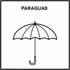 PARAGUAS - Pictograma (blanco y negro)