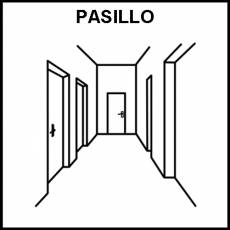 PASILLO - Pictograma (blanco y negro)