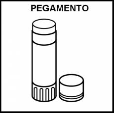 PEGAMENTO DE BARRA - Pictograma (blanco y negro)