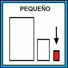 PEQUEÑO - Pictograma (color)
