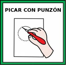 PICAR CON PUNZÓN - Pictograma (color)