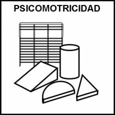 PSICOMOTRICIDAD - Pictograma (blanco y negro)