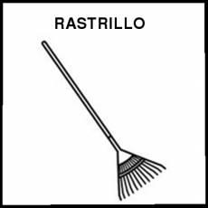 RASTRILLO - Pictograma (blanco y negro)