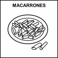 MACARRONES - Pictograma (blanco y negro)
