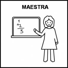 MAESTRA - Pictograma (blanco y negro)