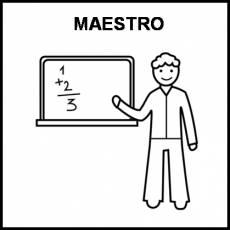 MAESTRO - Pictograma (blanco y negro)