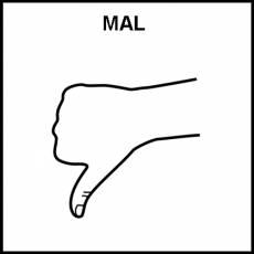 MAL - Pictograma (blanco y negro)