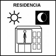 RESIDENCIA - Pictograma (blanco y negro)
