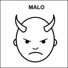 MALO - Pictograma (blanco y negro)