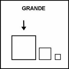 GRANDE - Pictograma (blanco y negro)