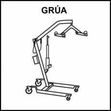 GRÚA - Pictograma (blanco y negro)