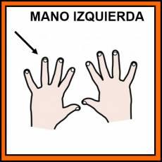 MANO IZQUIERDA - Pictograma (color)
