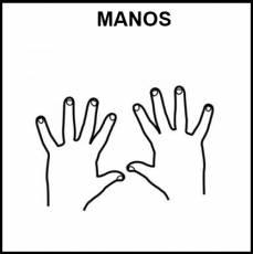 MANOS - Pictograma (blanco y negro)