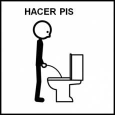 HACER PIS (NIÑO) - Pictograma (blanco y negro)