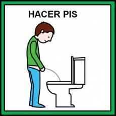 HACER PIS (NIÑO) - Pictograma (color)