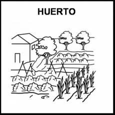 HUERTO - Pictograma (blanco y negro)