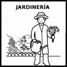 JARDINERÍA - Pictograma (blanco y negro)