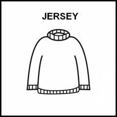 JERSEY - Pictograma (blanco y negro)